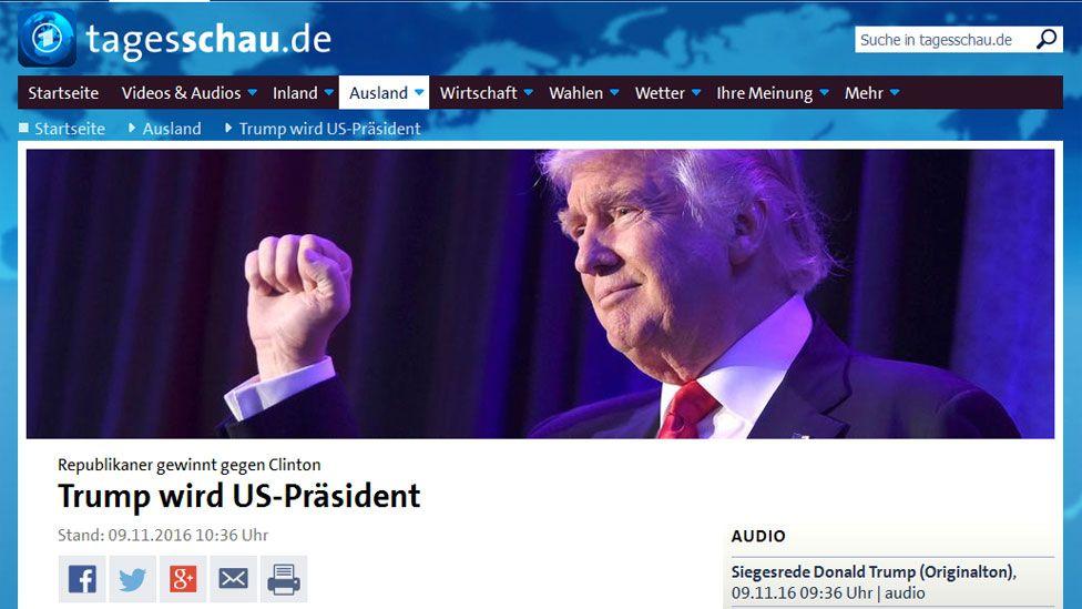 Screengrab from German news website Tagesschau