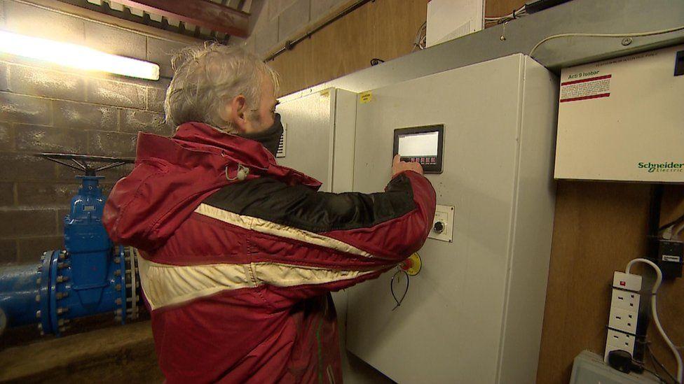 Richard Vaughan in the turbine house