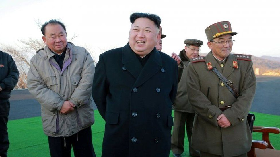 FILE PHOTO: North Korean leader Kim Jong Un supervised a ballistic rocket launching drill of Hwasong artillery units of the Strategic Force of the KPA on the spot