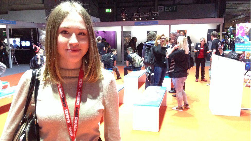 19 year old Samantha at EGX gaming event
