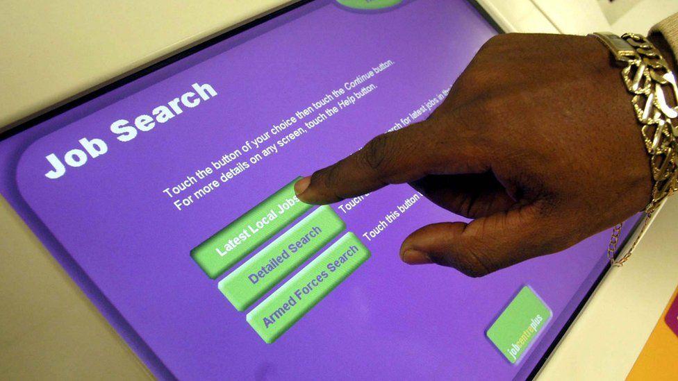 Job search touchscreen