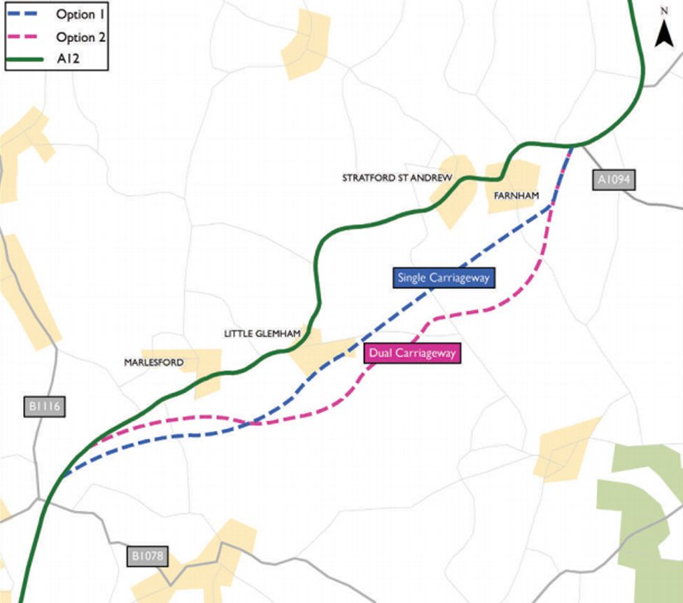 Proposed bypass routes