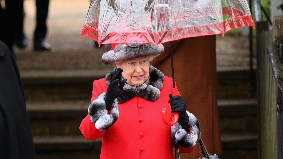 Queen at Sandringham, Christmas 2015
