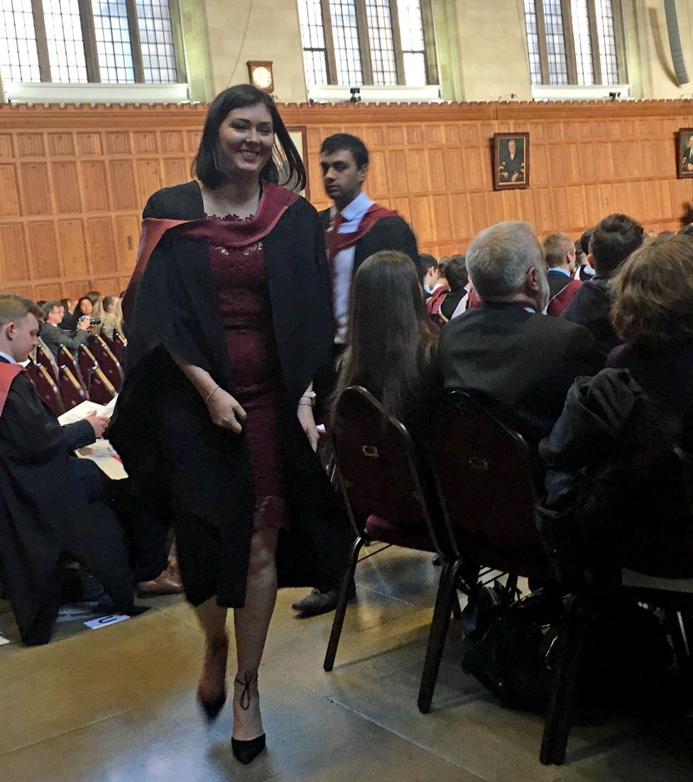 Hannah graduating