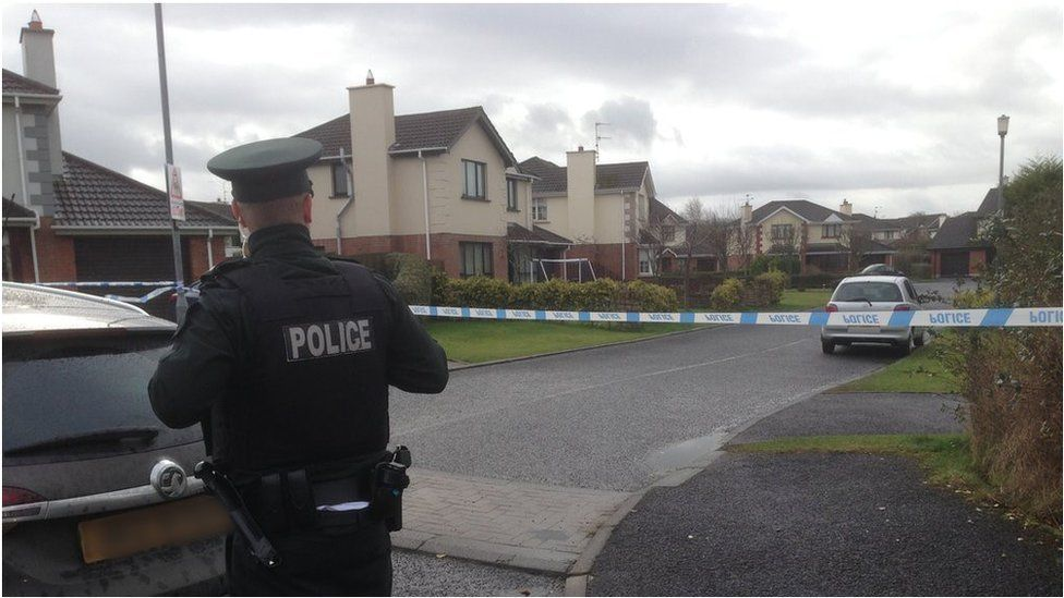 Police at the scene of an alert in Derry