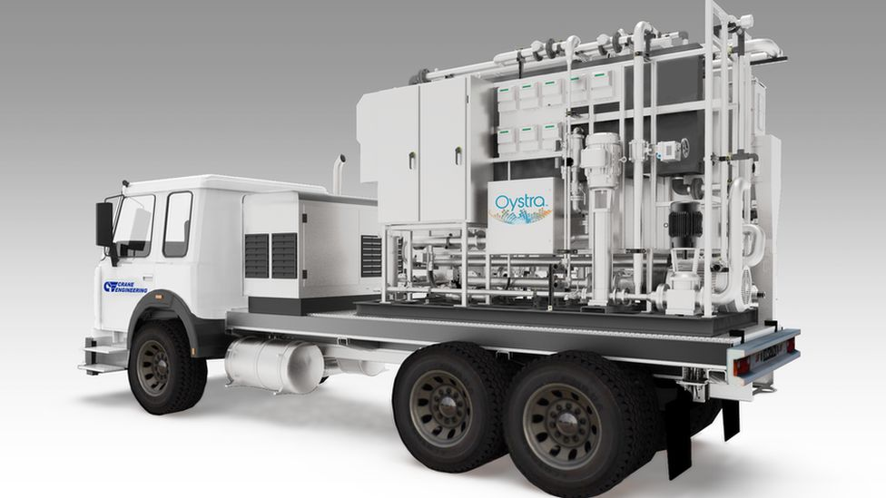 Graphic of waste treatment truck