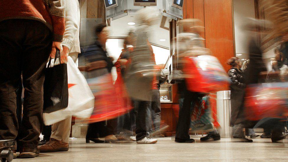 Holiday season shoppers