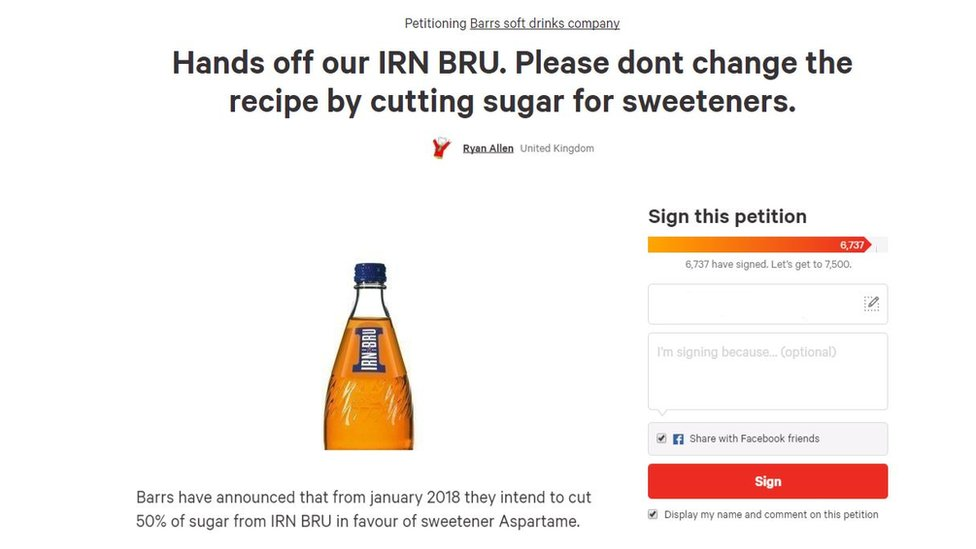 Irn Bru petition
