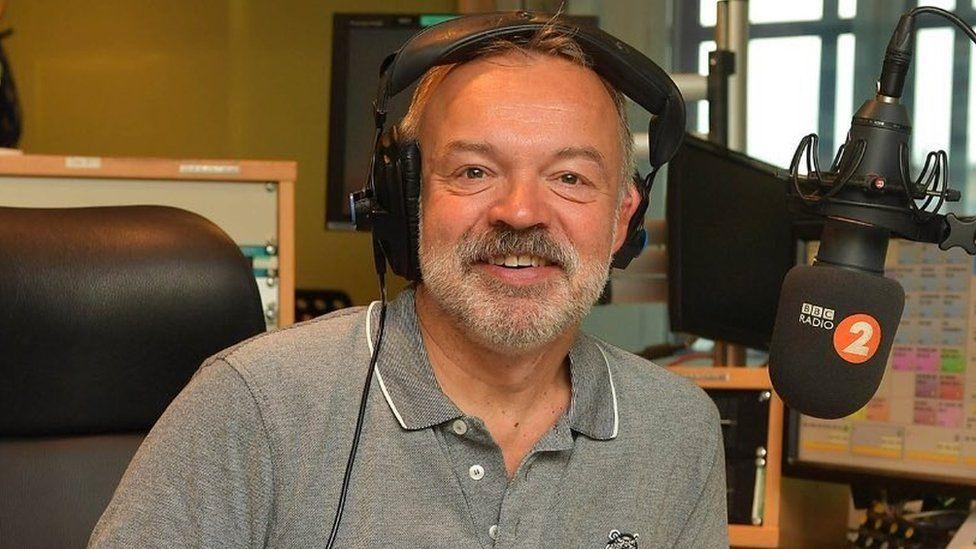 Graham Norton in the Radio 2 studio