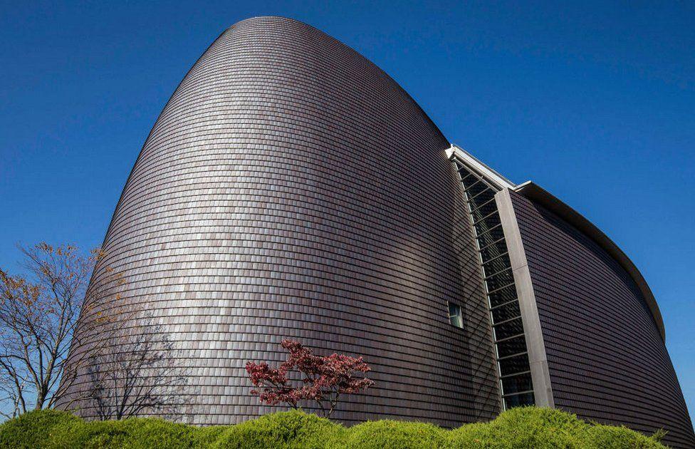 Nara Centennial Hall in Japan, designed by Arata Isozaki