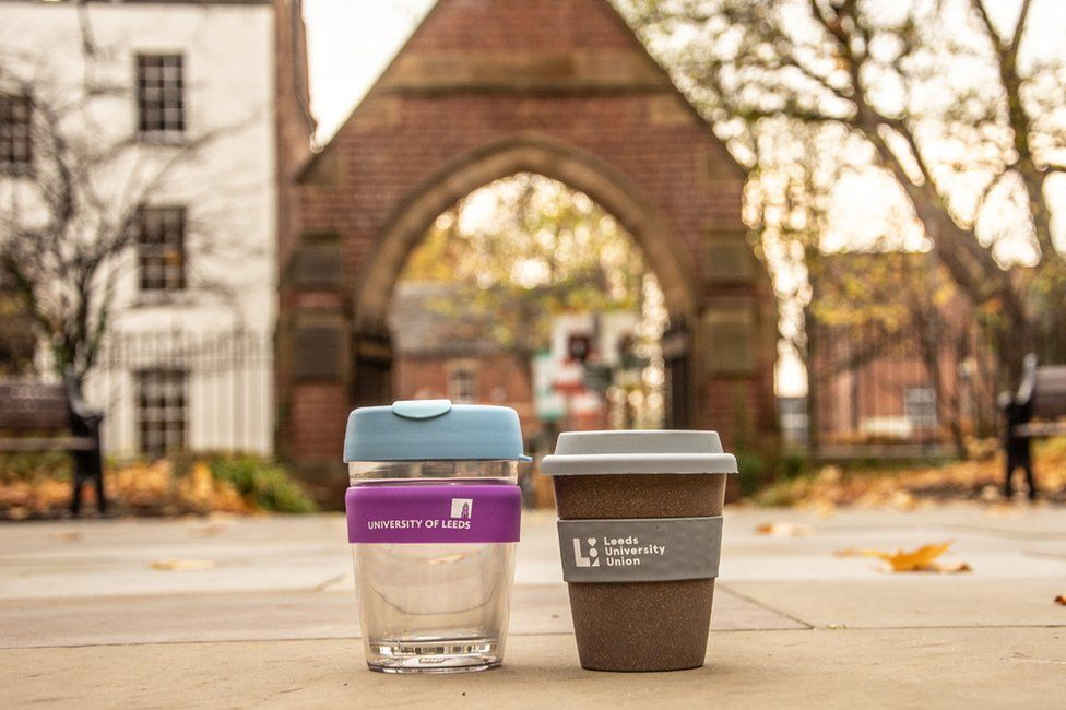 Two reusable and recyclable cups