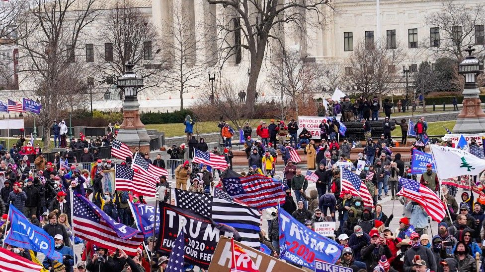Donald Trump supporters protested outside the White House in January