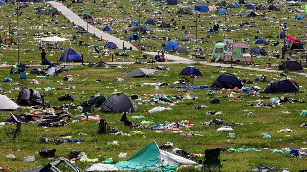 Abandoned tents