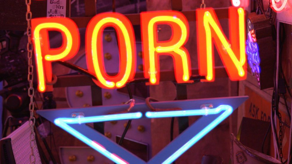 Neon 'porn' sign