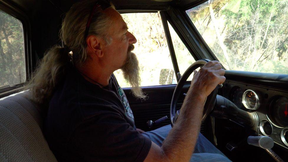 Beninger in his truck