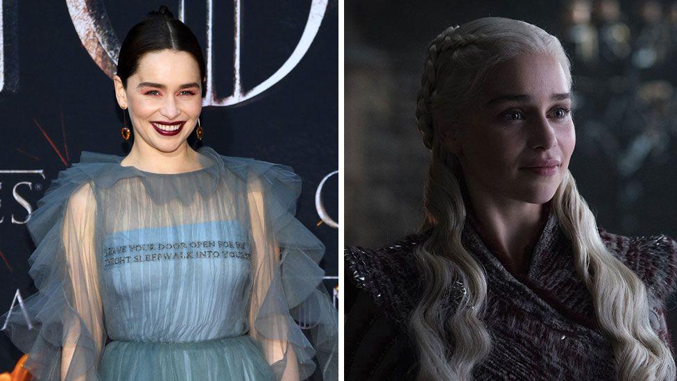 Emilia Clarke and Daenerys Targaryen