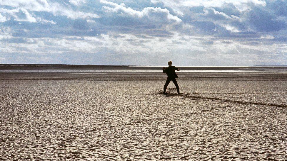 Patrick McGoohan on the beach