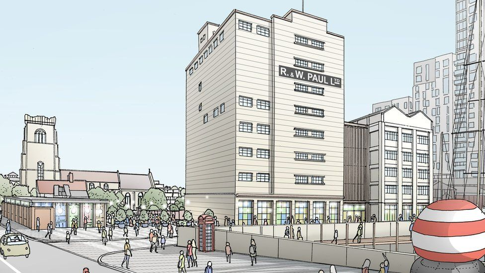An artist's vision of how St Peter's Dock could look