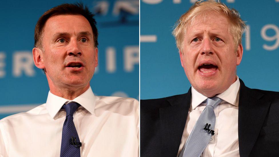 Jeremy Hunt, Boris Johnson composite picture