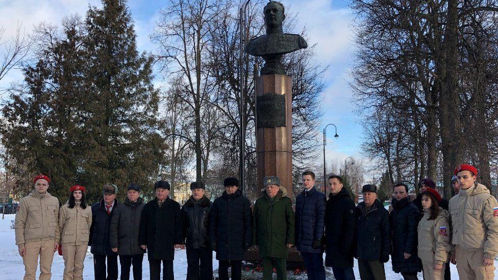 Vasily Zaitsev statue