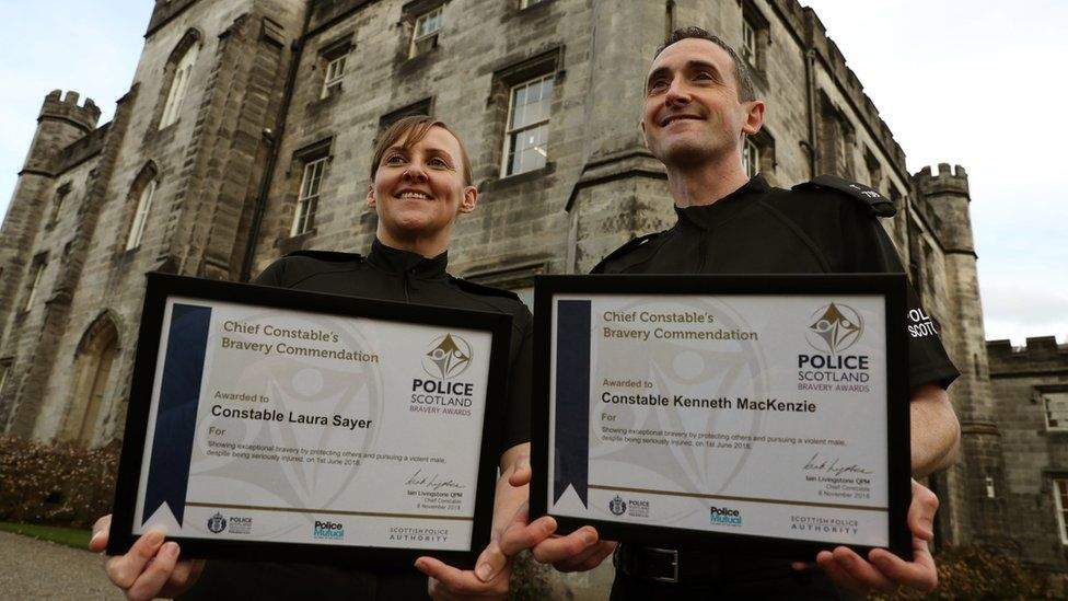 PC Laura Sayer and PC Kenneth McKenzie