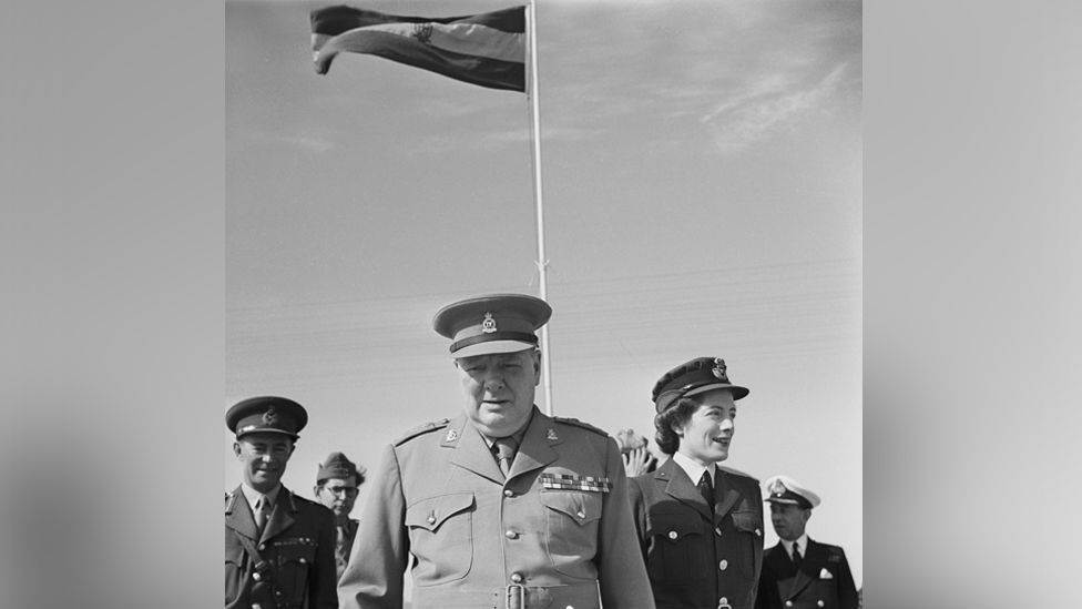 Winston and Sarah Churchill during the Cairo Conference, December 1943