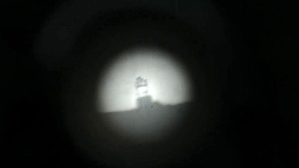 The view through the telescope