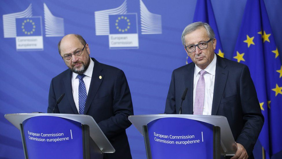 Martin Schulz and Jean-Claude Juncker