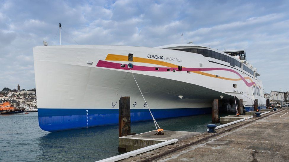 Condor Liberation in Guernsey's St Peter Port Harbour
