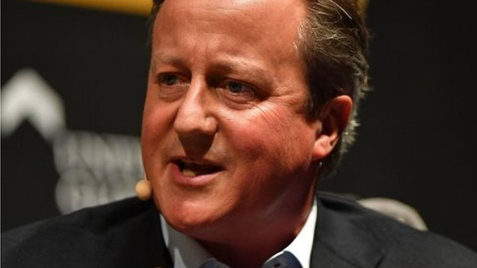 Ex-UK PM Cameron grilled over links to bankrupt finance firm