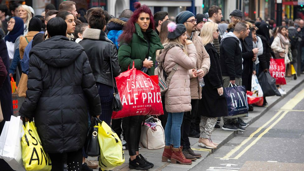 Shoppers take advantage of Boxing Day sales on London's Oxford Street