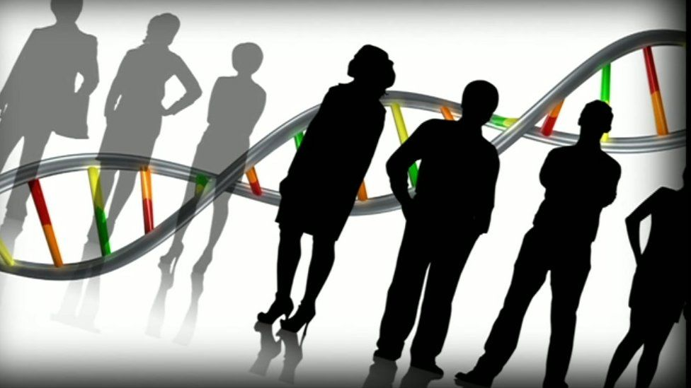 People and DNA illustration