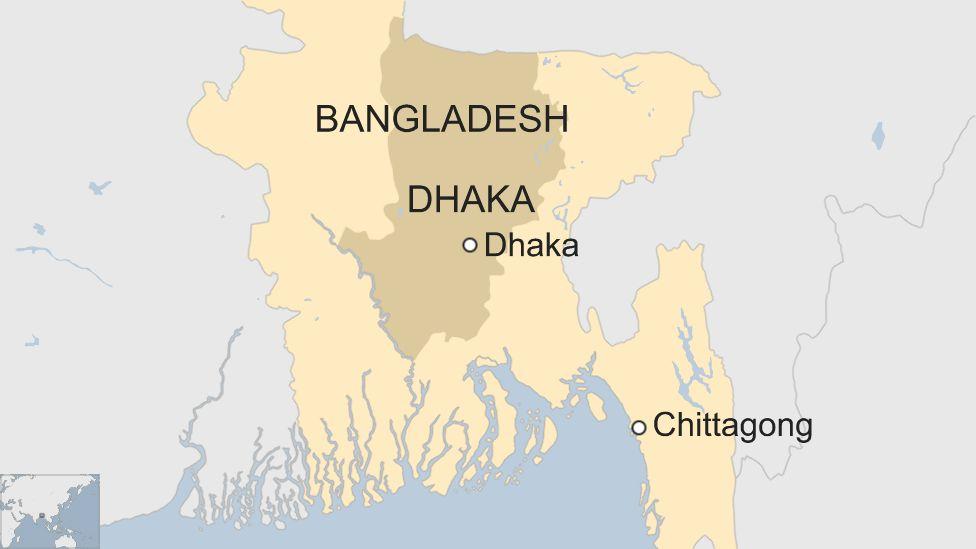 Map shows Bangladesh