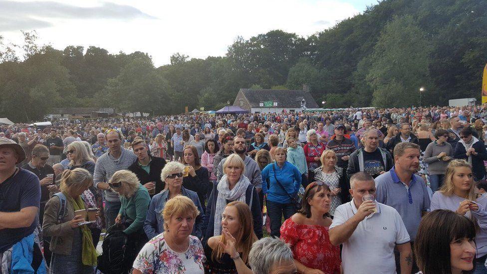 People attending the Burning Lantern Fayre