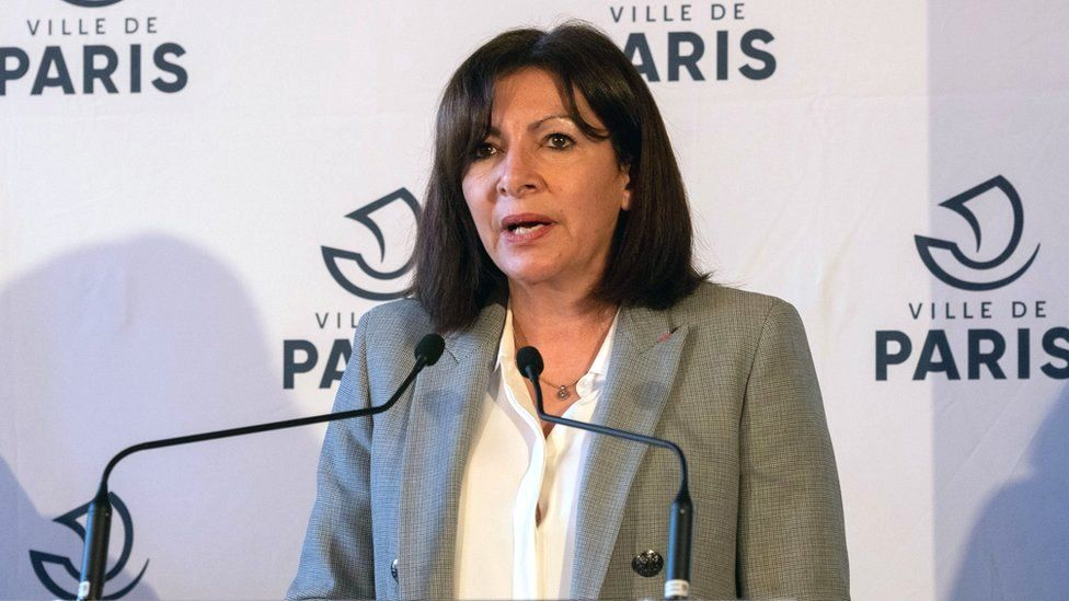 Paris Mayor Anne Hidalgo speaks during a press conference on 1 March 2021