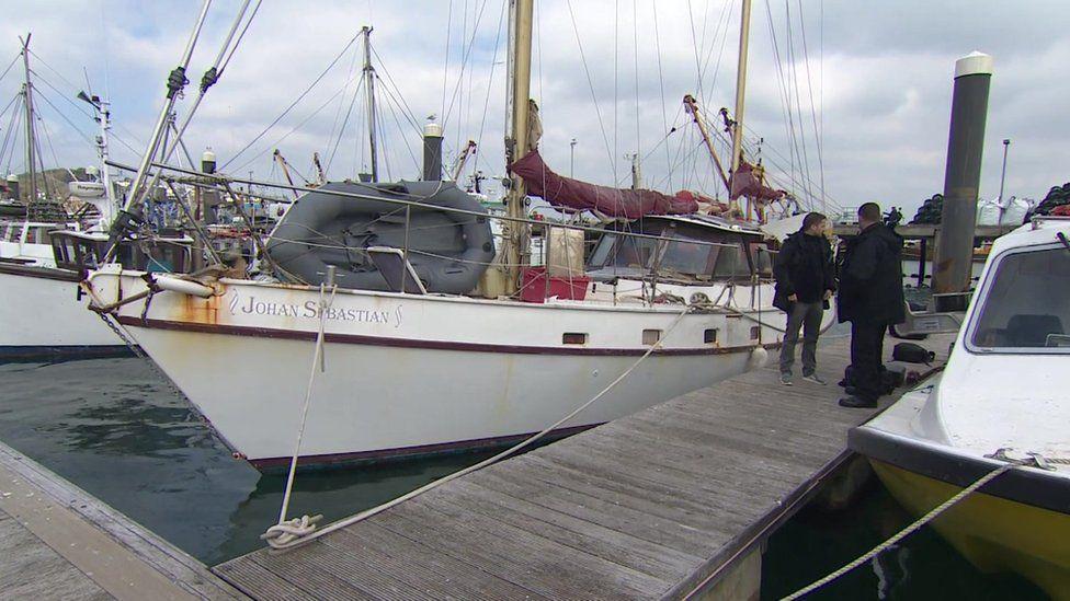 Yacht, Newlyn Harbour