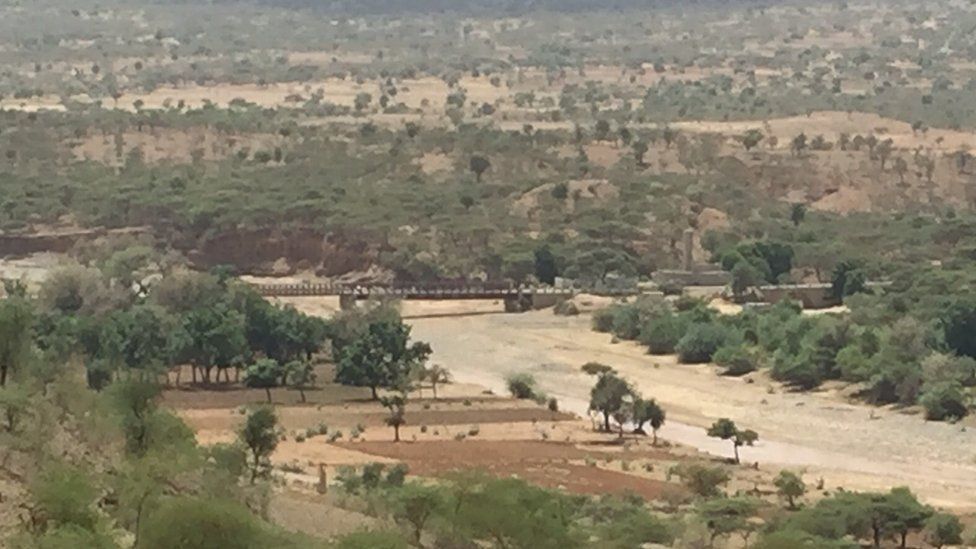The bridge shows the Eritrean side of the border