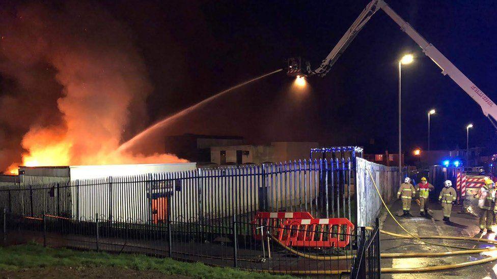 fire crews tackle derry fire