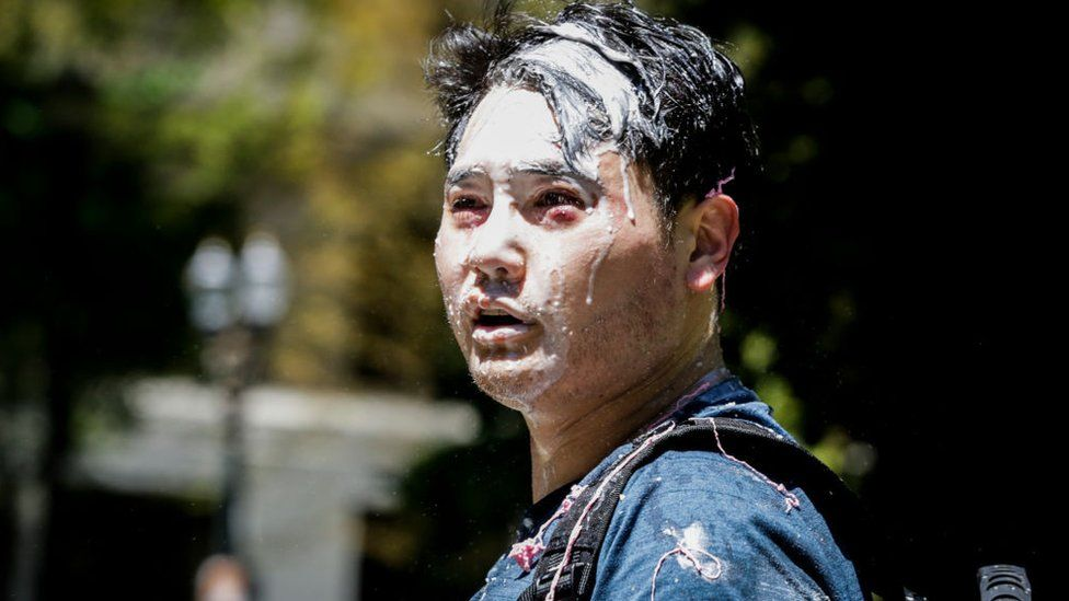 Conservative journalist Andy Ngo was attacked by far left demonstrators