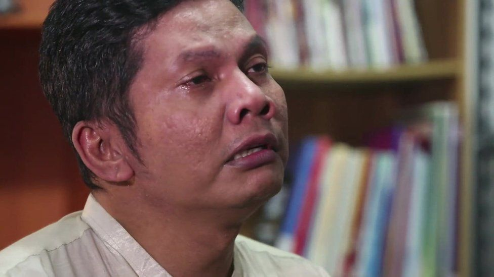 Photo of Indonesian gay rights activist, Hartoyo, who runs the support group Our Voice