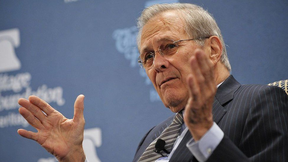 Former US Defense Secretary Donald Rumsfeld