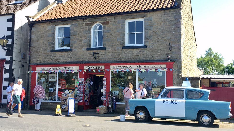 Goathland village store on the North York Moors, where the ITV series Heartbeat was filmed
