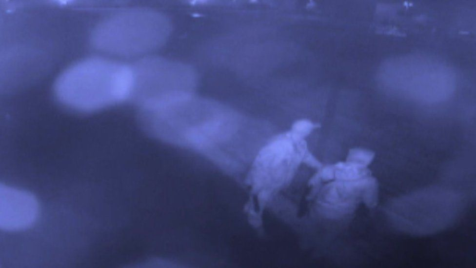 CCTV footage from the school