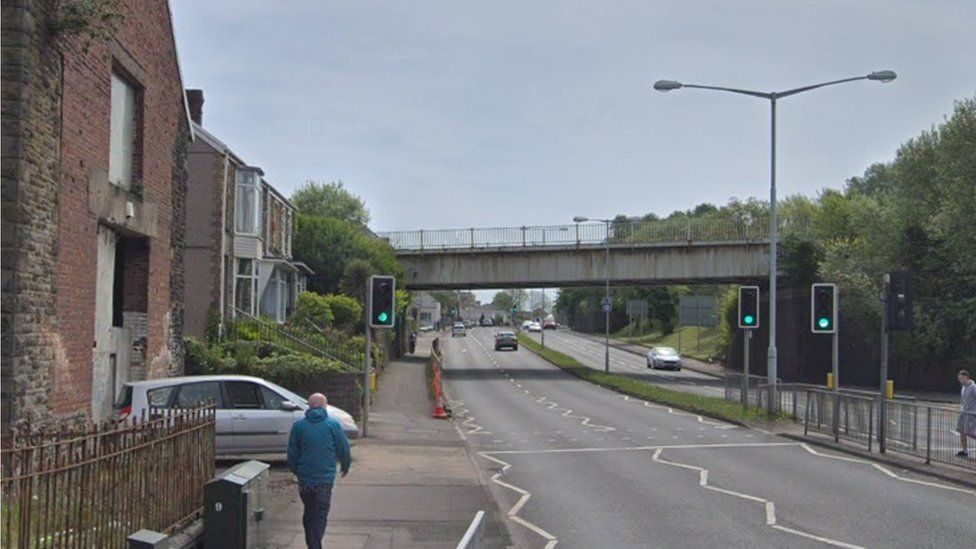 The crossing where the incident happened in Swansea