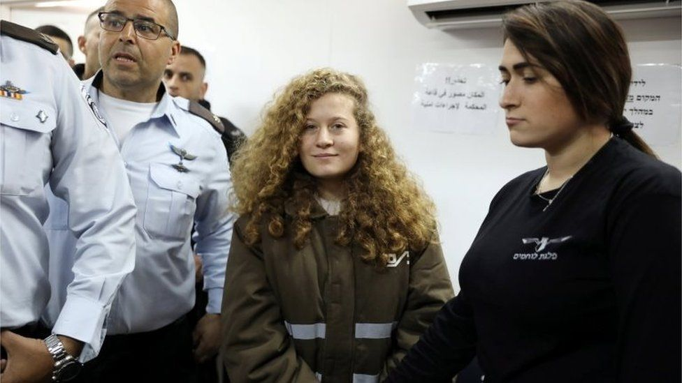 Ahed Tamimi in court (15/01/18)