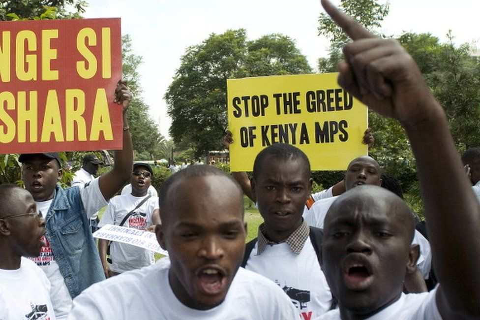 Protest against MPs pay