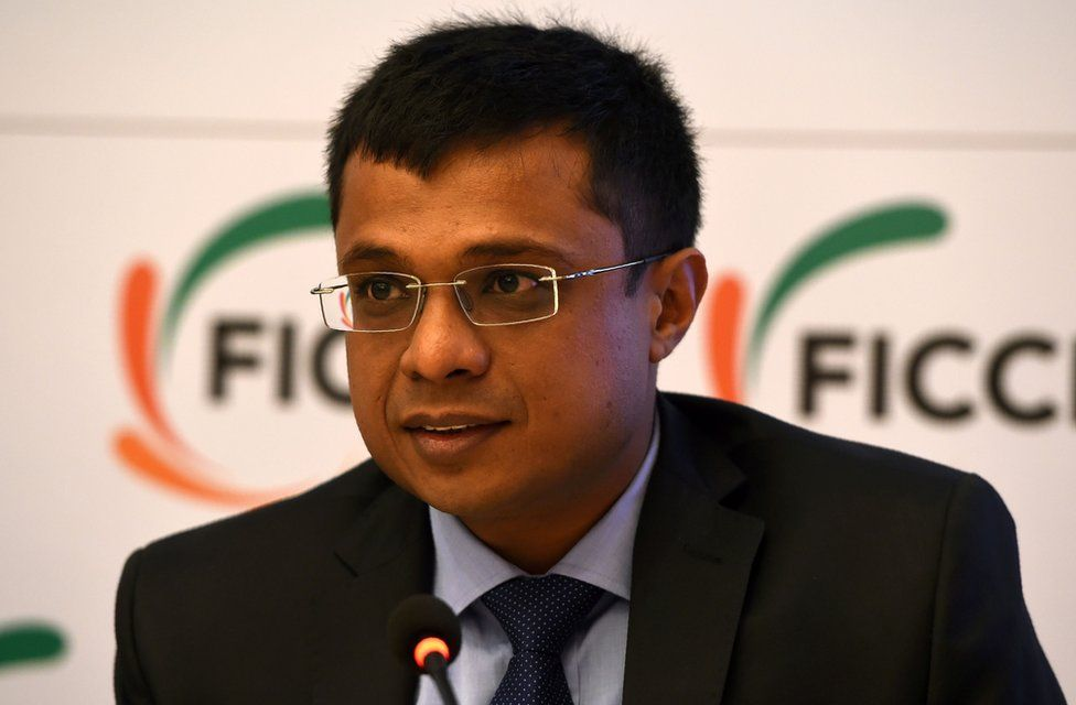 Sachin Bansal, co-founder and Executive Chairman, Flipkart, speaks during a press conference in Delhi on February 9, 2017.