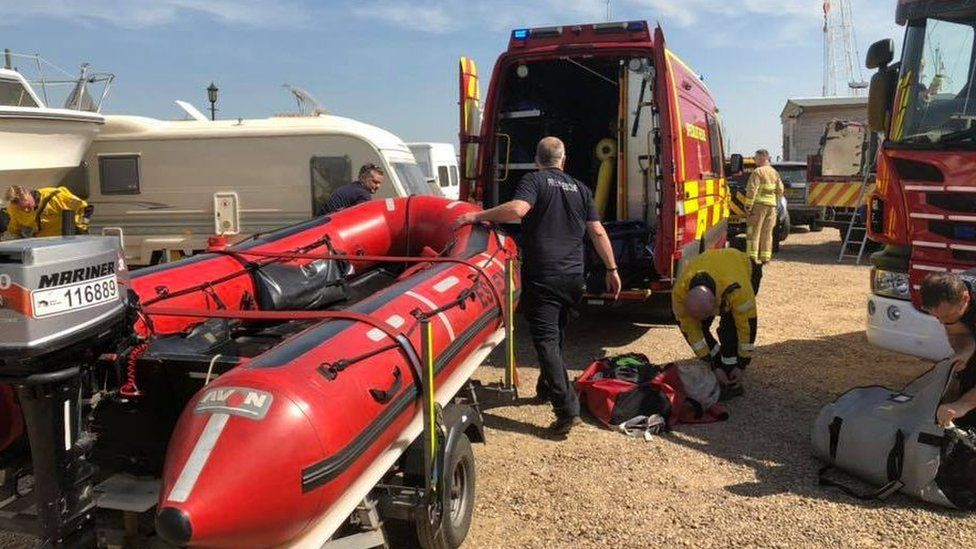 Coastguard and fire service vehicles