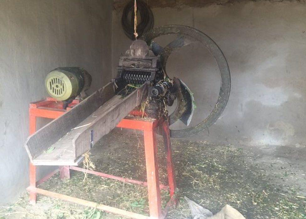 Grass cutting machine used to cut Qaiser's hand off