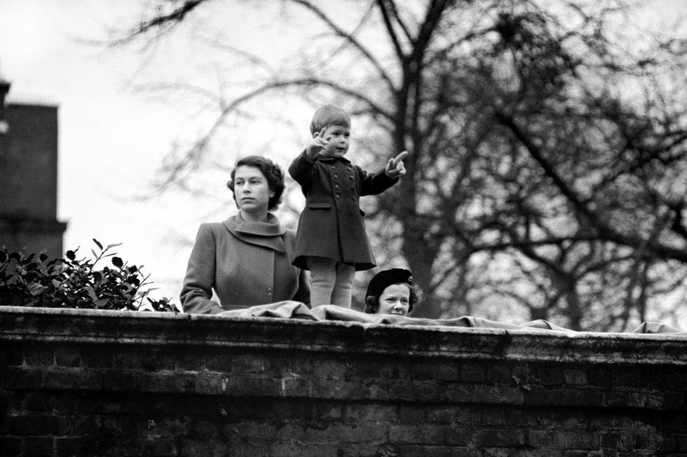 Princess Elizabeth with her two year old son Prince Charles